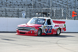 June 22, 2018 - Madison, Illinois, U.S. - MADISON, IL - JUNE 22:  Austin Self (22) driving a Chevrolet for Go Texan warms up before  the Camping World Truck Series - Eaton 200 on June 22, 2018, at Gateway Motorsports Park, Madison, IL.   (Photo by Keith Gillett/Icon Sportswire) (Credit Image: © Keith Gillett/Icon SMI via ZUMA Press)