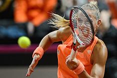 20150208 NED: Fed Cup Nederland - Slowakije, Apeldoorn