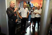 MOTORSPORT - F1 2013 - GRAND PRIX OF ITALIA - MONZA (ITA) - 05 TO 08/09/2013 - PHOTO ERIC VARGIOLU / DPPI - MCLAREN TEAM AMBIANCE _ 50 YEARS<br /> RON DENNIS - MC LAREN GROUP OWNER - AMBIANCE PORTRAIT<br /> WHITMARSH MARTIN (GBR) - MCLAREN MERCEDES F1 DIRECTOR - DIRECTEUR MCLAREN MERCEDES F1 - AMBIANCE PORTRAIT