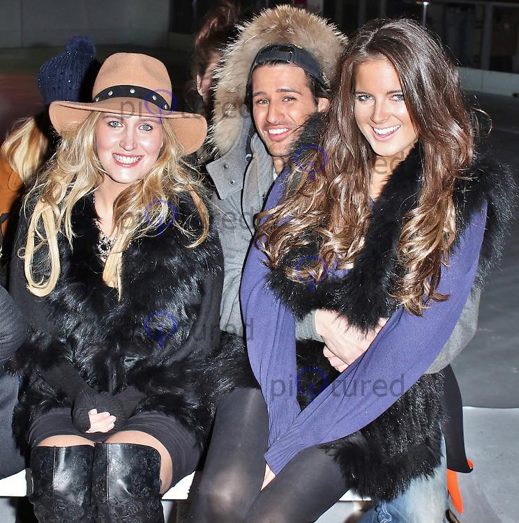 LONDON - December 10: Francesca Hull, Binky Felstead & Ollie Locke at the Very.co.uk - Catwalk Event (Photo by Brett D. Cove)
