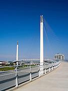 Views of the Bob Kerrey Bridge that spans the Missouri River between Council Bluffs, Iowa and Omaha, Nebraska