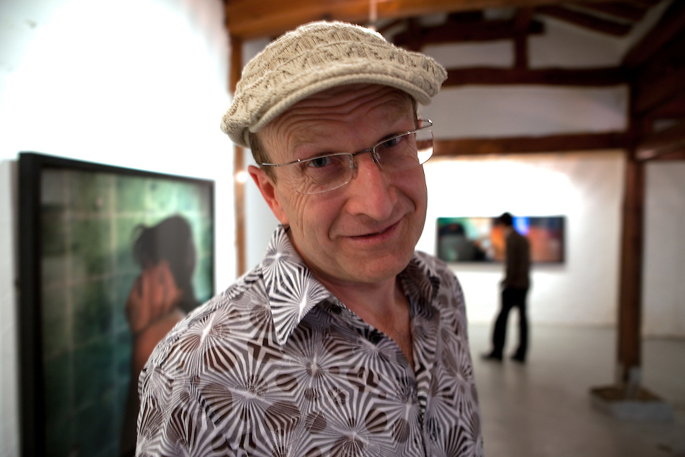 """Walter Bergmoser at the Alternative Space Geonhi during the opening of his exhibition """"true mind in a shiny world"""" in Seoul."""