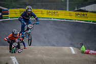 #100 (MAHIEU Romain) FRA at Round 6 of the 2018 UCI BMX Superscross World Cup in Zolder, Belgium