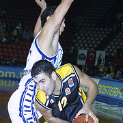 EURULEAGUE<br />EFES PILSEN - A.E.K.<br />A.E.K.'s Antic Pero (R) during their Abdi Ipekci Sport Hall in ISTANBUL at TURKEY.<br />Photo by AYKUT AKICI/TurkSporFoto