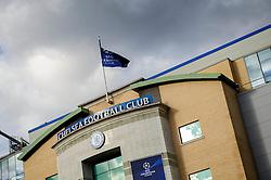 A general view of Stamford Bridge before the match - Photo mandatory by-line: Rogan Thomson/JMP - 07966 386802 - 08/04/2014 - SPORT - FOOTBALL - Stamford Bridge, London - Chelsea v Paris Saint-Germain - UEFA Champions League Quarter-Final Second Leg.