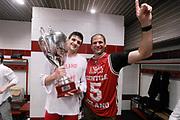 DESCRIZIONE : Milano Lega A 2013-14 EA7 Emporio Armani Milano vs Montepaschi Siena playoff Finale gara 7<br /> GIOCATORE : Alessandro Gentile Nando Gentile<br /> CATEGORIA : postgame post game<br /> SQUADRA : EA7 Emporio Armani Milano<br /> EVENTO : Finale gara 7 playoff<br /> GARA : EA7 Emporio Armani Milano vs Montepaschi Siena playoff Finale gara 7<br /> DATA : 27/06/2014<br /> SPORT : Pallacanestro <br /> AUTORE : Agenzia Ciamillo-Castoria/M.Marchi<br /> Galleria : Lega Basket A 2013-2014  <br /> Fotonotizia : Milano<br /> Lega A 2013-14 EA7 Emporio Armani Milano vs Montepaschi Siena playoff Finale gara 7<br /> Predefinita :