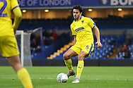 AFC Wimbledon defender Will Nightingale (5) passing the ball during the EFL Trophy match between U21 Chelsea and AFC Wimbledon at Stamford Bridge, London, England on 4 December 2018.