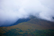 """Slievanea mountain, shrouded by cloud, near the Connor Pass, Dingle Peninsula, Kerry, Ireland This mage can be licensed via Millennium Images. Contact me for more details, or email mail@milim.com For prints, contact me, or click """"add to cart"""" to some standard print options."""