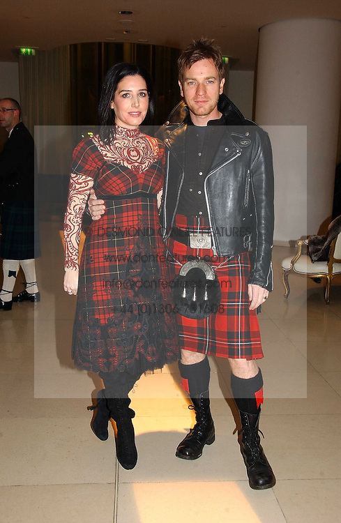 SHARLEEN SPITERI and EWAN MCGREGOR at a Burns Night dinner in aid of CLIC Sargent and Children's Hospice Association Scotland held at St.Martin's Lane Hotel, St.Martin's Lane, London on 25th January 2007.<br /><br />NON EXCLUSIVE - WORLD RIGHTS