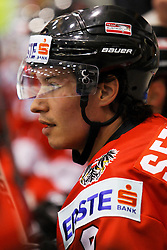 24.04.2010, Eishalle, IJssportcentrum, Tilburg, NED, IIHF Division I WM, Gruppe A, Österreich vs Niederlande im Bild Austrian forward Oliver Setzinger watches play from the bench, EXPA Pictures © 2010, PhotoCredit/ EXPA/ Fintan Planting / SPORTIDA PHOTO AGENCY
