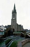 France, Brittany.  Mur de Bretangne.  Church.