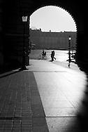 France. Paris. 1st district. . Louvre museum.  seine river caroussel side gate