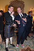 JOCELYN BAIN HOGG; HUGO BURNAND, Tatler magazine Jubilee party with Thomas Pink. The Ritz, Piccadilly. London. 2 May 2012