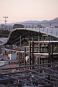The Milpitas BART Station is under construction near Montague Expressway and Great Mall Parkway in Milpitas, California, photographed on September 8, 2015. (Stan Olszewski/SOSKIphoto)