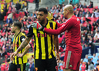 Football - 2019 Emirates FA Cup Final - Manchester City vs. Watford<br /> <br /> Troy Deeney is consoled by Watford goalkeeper, Heurelho Gomes, at Wembley Stadium.<br /> <br /> COLORSPORT/ANDREW COWIE