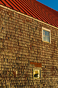 Window reflection, Lubec, Maine, USA, furthest Northeast town in the continental United States