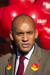 © Licensed to London News Pictures . 27/10/2012 . Manchester , UK . CHUKA UMUNNA , Shadow Business Secretary and MP for Streatham , opens Lucy Powell's campaign to become Manchester Central's first woman MP today (27th October 2012) . Photo credit : Joel Goodman/LNP
