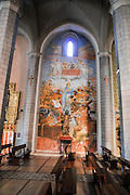 Interior of the Chapel of Les Alegries, Lloret de Mar, Costa Brava, Spain