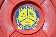 Sea danger red rescue Coastguard buoy details