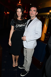 MARY McCARTNEY and SIMON ABOUD at the Hoping Foundation's 'Rock On' Benefit Evening for Palestinian refuge children held at the Cafe de Paris, London on 20th June 2013.