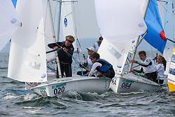 , Travemünde - 420er WM 25.07. - 03.08.2014, 420er, USA 55145, Wiley ROGERS, Ian ROBINSON, TCYC