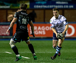 Jarrod Evans of Cardiff Blues<br /> <br /> Photographer Simon King/Replay Images<br /> <br /> Guinness PRO14 Round 15 - Cardiff Blues v Glasgow Warriors - Saturday 16th February 2019 - Cardiff Arms Park - Cardiff<br /> <br /> World Copyright © Replay Images . All rights reserved. info@replayimages.co.uk - http://replayimages.co.uk