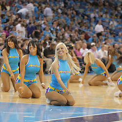 01 November 2008:  New Orleans Hornets Honeybee dancers perform during the NBA regular season home opener for the New Orleans Hornets against the Cleveland Cavaliers at the New Orleans Arena in New Orleans, LA..