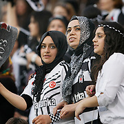 Besiktas's Supporters fans during their Turkish Superleague SuperFinal Derby match Besiktas between Fenerbahce at the Inonu Stadium at Dolmabahce in Istanbul Turkey on Thursday, 03 May 2012. Photo by TURKPIX