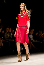 © Licensed to London News Pictures. 16/09/2012. London, UK.  Marios Schwab catwalk show at London Fashion Week Spring/Summer 2013 on September 16, 2012. Photo credit : Ben Cawthra/LNP