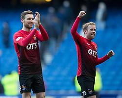 Kilmarnock's Stephen O'Donnell and Rory McKenzie during the Ladbrokes Scottish Premiership match at Ibrox Stadium, Glasgow.
