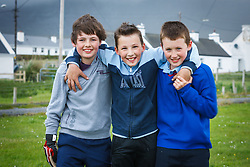 Portrait of kids,  Dooagh, Achill Island, County Mayo, Ireland