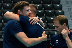 11-08-2019 NED: FIVB Tokyo Volleyball Qualification 2019 / Netherlands - USA, Rotterdam<br /> Final match pool B in hall Ahoy between Netherlands vs. United States (1-3) and Olympic ticket  for USA / Michael Parkinson #17 of Netherlands