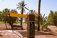 06-10-2015 -  Foto van Beschutting bij elke teebox bij Assoufid Golf Club in Marrakech, Marokko. De 18 holes van de Assoufid Golf Club zijn ontworpen door Niall Cameron. Bij helder weer bieden enkele holes fraaie uitzichten op het Atlas gebergte.
