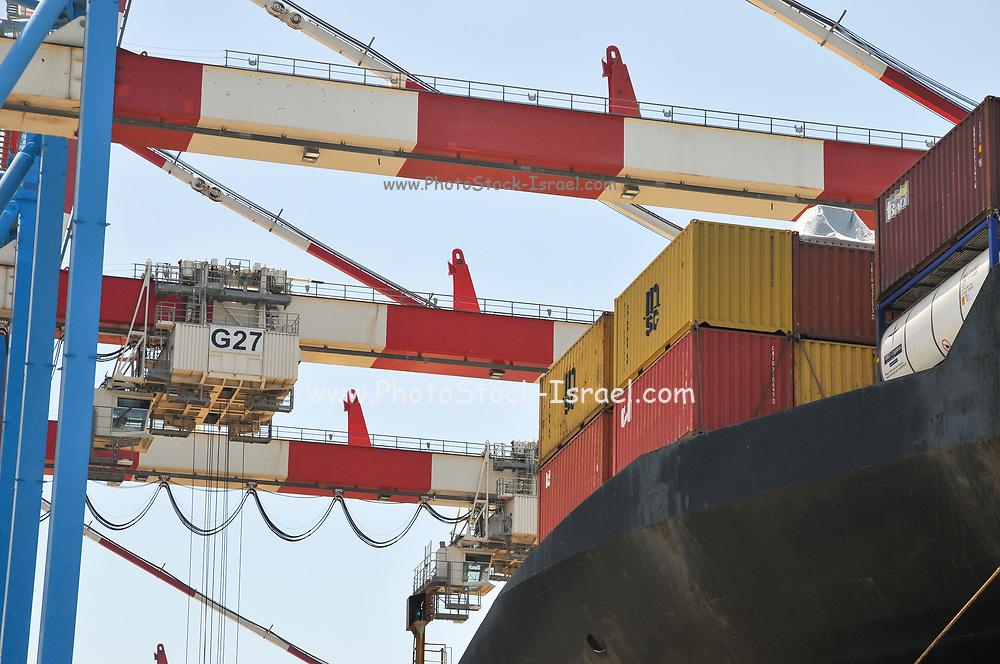 Container handling crane. Port of Haifa, Haifa, Israel