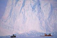 Snow mobile hunt, Baffin Island, Canada
