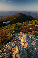"""View of the """"chin"""" on Mount Mansfield's summit ridge."""