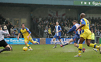 Photo: Lee Earle.<br /> Torquay United v Hartlepool United. Coca Cola League 2. 17/02/2007.Eifion Williams (2ndR) scores the opening goal for Hartlepool.