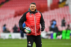 Jamie Joseph Head coach of Japan during the pre match warm up<br /> <br /> Photographer Craig Thomas<br /> <br /> Japan v Russia<br /> <br /> World Copyright ©  2018 Replay images. All rights reserved. 15 Foundry Road, Risca, Newport, NP11 6AL - Tel: +44 (0) 7557115724 - craig@replayimages.co.uk - www.replayimages.co.uk