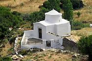 Byzantine church near Apirathos Hill Top Village, Naxos, Greek Cyclades Islands