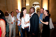 FIONA BANNER; JULIA ROYCE; NICK ROSEN, Tate Summer Party. Celebrating the opening of the  Fiona Banner. Harrier and Jaguar. Tate Britain. Annual Duveens Commission 29 June 2010. -DO NOT ARCHIVE-© Copyright Photograph by Dafydd Jones. 248 Clapham Rd. London SW9 0PZ. Tel 0207 820 0771. www.dafjones.com.