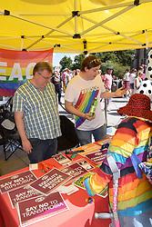 Norwich Pride, 28 July 2018 UK- PCS information stall