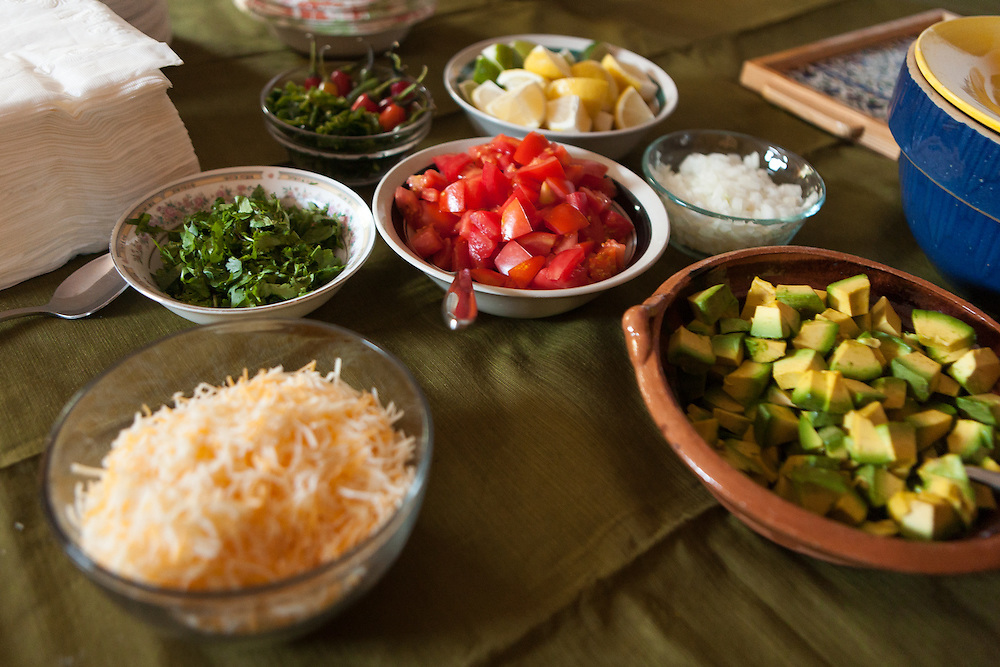A traditional New Mexico breakfast at Henry and Michelle Otero's South Valley home.