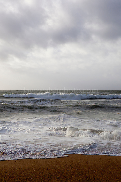 Stormy seas at the Grand Plage, Biarritz, Basque Country, France