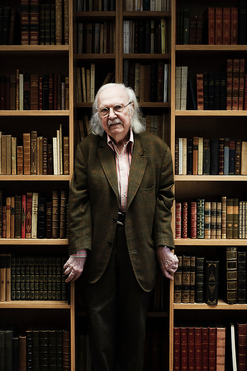 PARIS, FRANCE. FEBRUARY 22, 2011. Alain Rey, famous Robert Dictionnaries' lexicographer and linguist in his home. (photo : Antoine Doyen)