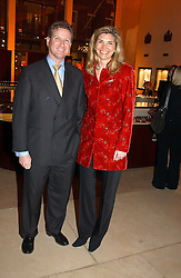 WILLIAM & LUCY ASPREY at a party to celebrate the 2nd anniversary of Quintessentially magazine held at Asprey, Bond Street, London on 24th February 2005.<br />