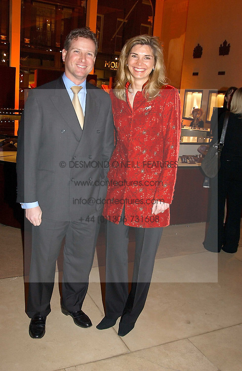WILLIAM & LUCY ASPREY at a party to celebrate the 2nd anniversary of Quintessentially magazine held at Asprey, Bond Street, London on 24th February 2005.<br /><br />NON EXCLUSIVE - WORLD RIGHTS
