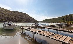 THEMENBILD - URLAUB IN KROATIEN, Boote am Bootssteg im Limski Kanal, aufgenommen am 02.07.2014 in Porec, Kroatien // Boats at the boat dock in the Limski fjord at Vrsar, Croatia on 2014/07/02. EXPA Pictures © 2014, PhotoCredit: EXPA/ JFK