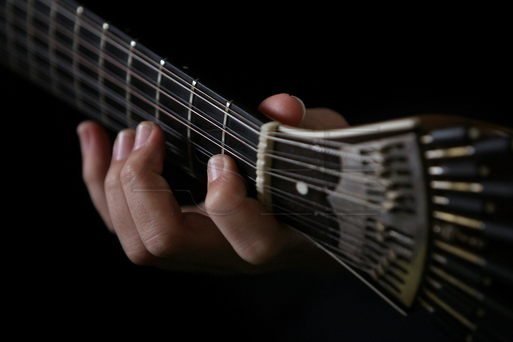 A Portuguese Guitar, the main instrument used in fado music. It's believed that this twelve-chord instrument is an evolution from arabic citar.