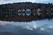 Saranac Lake in the Adirondack Mountains, NY state.