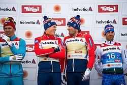 February 24, 2019 - Seefeld In Tirol, AUSTRIA - 190224 Gold medalists Johannes Høsflot Klæbo and Emil Iversen of Norway at the flower ceremony after the men's team sprint qualification during the FIS Nordic World Ski Championships on February 24, 2019 in Seefeld in Tirol..Photo: Joel Marklund / BILDBYRÃ…N / kod JM / 87889 (Credit Image: © Joel Marklund/Bildbyran via ZUMA Press)